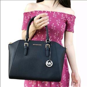 Mk black large satchel-